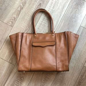 Rebecca Minkoff Side-Zip MAB Tote Leather Expands